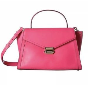NWT Michael Kors Whitney Large Rose Pink Satchel